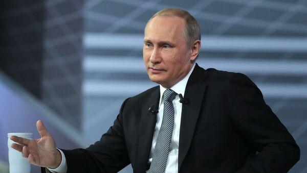 """""""Gorąca linia z prezydentem Rosji Władimirem Putinem 2016 - Sputnik Polska"""