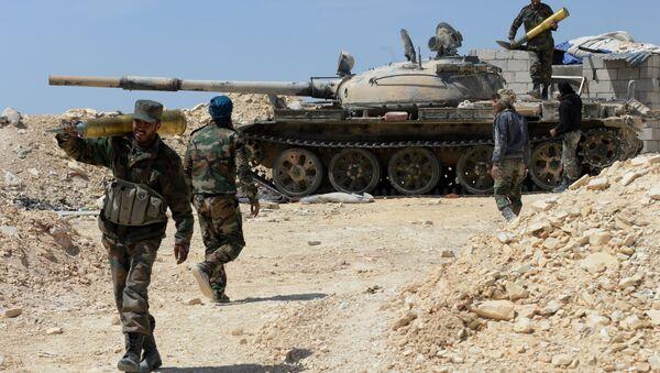 Żołnierze syryjskiej armii - Sputnik Polska