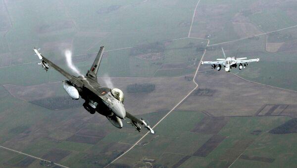 Patrolowanie przez NATO przestrzeni powietrznej nad rejonem bałtyckim - Sputnik Polska