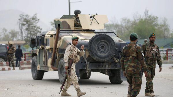 Afgańska armia na miejscu wybuchu w Kabulu - Sputnik Polska