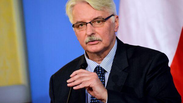 Szef polskiej dyplomacji Witold Waszczykowski - Sputnik Polska