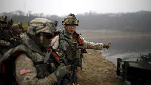 Amerykańscy żołnierze podczas wspólnych ćwiczeń z Koreą Południową w Yeoncheon - Sputnik Polska