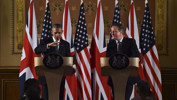 Prezydent USA Barack Obama i premier Wielkiej Brytania David Cameron - Sputnik Polska