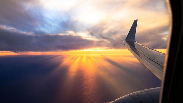 Skrzydło samolotu w niebie - Sputnik Polska