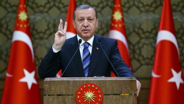 Prezydent Turcji Reccep Erdogan - Sputnik Polska