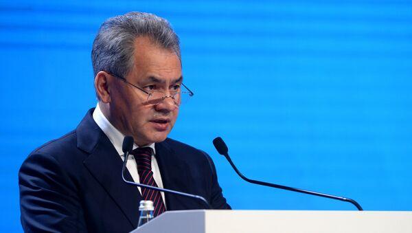 Minister obrony Rosji Siergiej Szojgu na V Moskiewskiej Konferencji ds. Bezpieczeństwa Międzynarodowego - Sputnik Polska