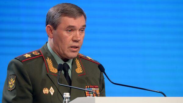 Szef Sztabu Generalnego Sił Zbrojnych Rosji Walerij Gierasimow na V Moskiewskiej Konferencji ds. Bezpieczeństwa Międzynarodowego - Sputnik Polska