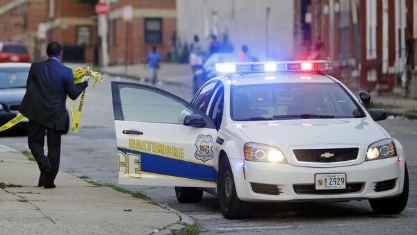 Samochód policji w Baltimore, USA - Sputnik Polska