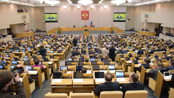 Posiedzenie rosyjskiej Dumy Państwowej - Sputnik Polska