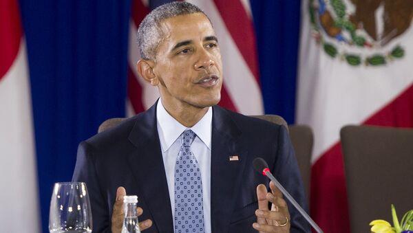 Prezydent USA Barack Obama na spotkaniu szefów TPP - Sputnik Polska