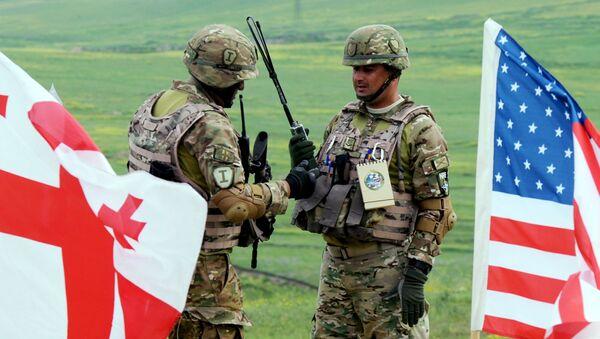 Gruzińsko-amerykańskie ćwiczenia wojskowe Noble Partner-2015 - Sputnik Polska
