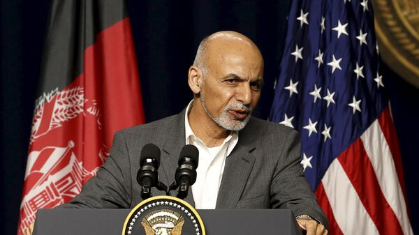 Afghanistan President Ashraf Ghani answers questions at a news conference at Camp David, Maryland March 23, 2015 - Sputnik Polska