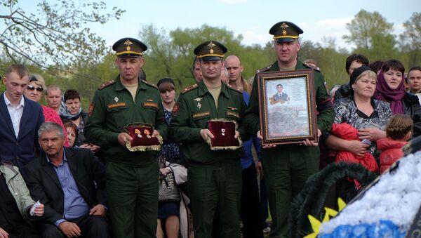 Pogrzeb Bohatera Federacji Rosyjskiej Aleksandra Prokhorenki, który zginął w Syrii - Sputnik Polska