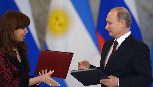 Spotkanie prezydenta Rosji Władimira Putina z prezydent Argentyny Cristiną Fernández de Kirchner - Sputnik Polska