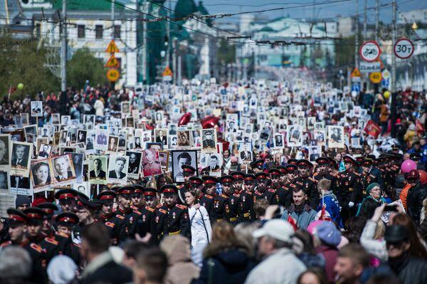 Akcja Nieśmiertelny pułk w Omsku - Sputnik Polska