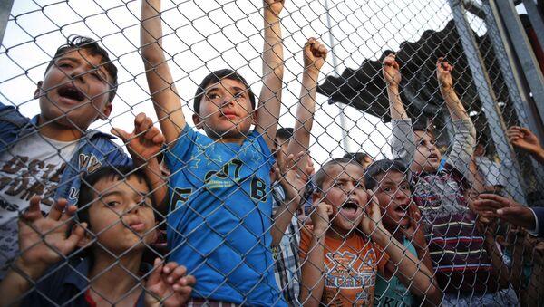Syryjscy uchodźcy w jednym z obozów w Turcji - Sputnik Polska