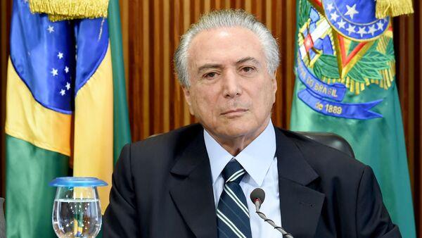 Michel Temer, brazylijski prezydent ad interim - Sputnik Polska