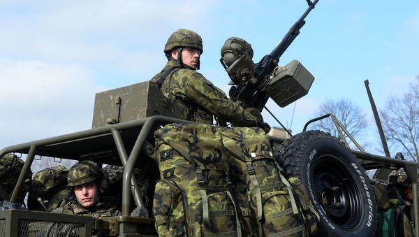 Żołnierz wojska czeskiego na ćwiczeniach NATO w Pardubicach - Sputnik Polska