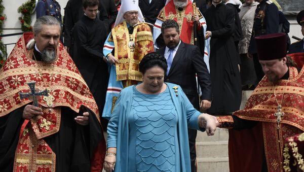 Wielka księżna Maria Władimirowna Romanowa i cesarzewicz Jerzy Michajłowicz Romanow w Eupatorii - Sputnik Polska