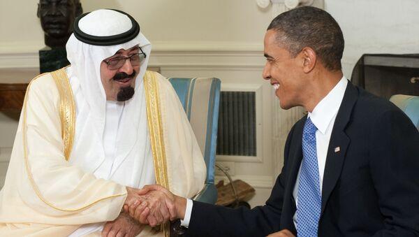 Król Arabii Saudyjskiej Abdullah bin Abdulaziz Al Saud i prezydent USA Barack Obama - Sputnik Polska