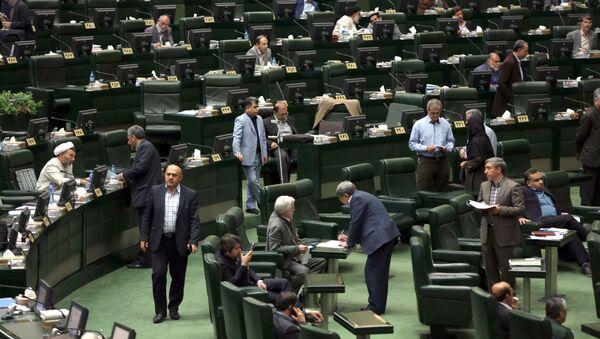 Sesja irańskiego parlamentu - Sputnik Polska
