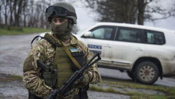Ukraiński żołnierz, wschodnia Ukraina. - Sputnik Polska