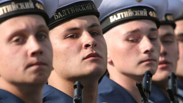 Marynarze Floty Bałtyckiej podczas Defilady Zwycięstwa w Kaliningradzie - Sputnik Polska
