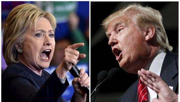 Hillary Clinton i  Donald Trump - Sputnik Polska