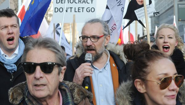 Mateusz Kijowski, lider Komitetu Obrony Demokracji - Sputnik Polska