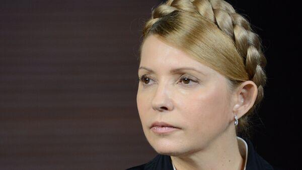 Liderka frakcji parlamentarnej Batkiwszczyna, była premier Ukrainy Julia Tymoszenko - Sputnik Polska