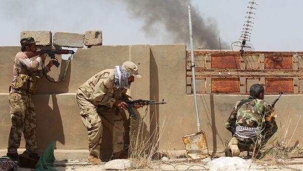 Walki z formacjami Daesh w rejonie Al-Falludży. Irak. - Sputnik Polska