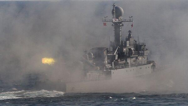 Południowokoreański okręt patrolowy podczas ćwiczeń wojskowych - Sputnik Polska