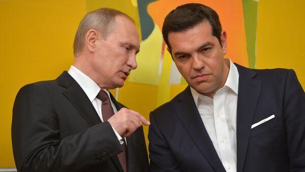 Prezydent Rosji Władimir Putin i premier Grecji Aleksis Tsipras - Sputnik Polska