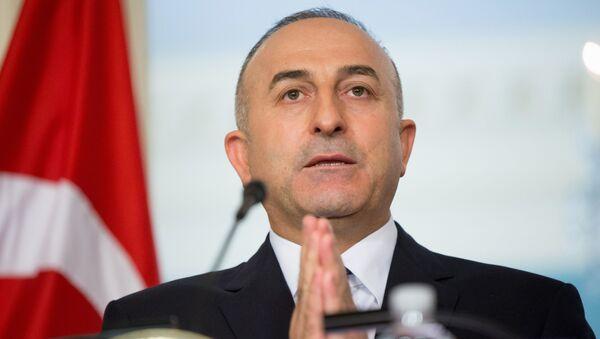 Szef tureckiej dyplomacji Mevlüt Çavuşoğlu - Sputnik Polska