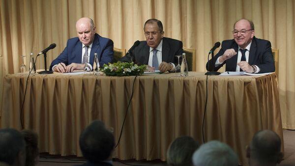 Spotkanie szefa MSZ Rosji Siergieja Ławrowa z przedstawicielami rosyjskich organizacji niekomercyjnych - Sputnik Polska