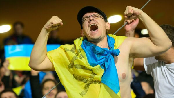 Ukraiński kibic na Euro-2016 - Sputnik Polska