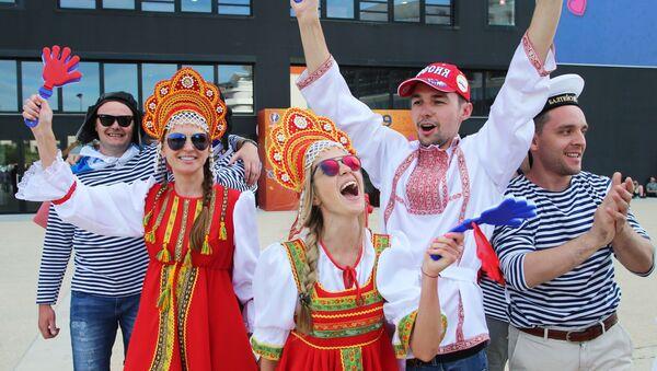 Rosyjscy kibice przed meczem Anglia - Rosja podczas Euro-2016 - Sputnik Polska