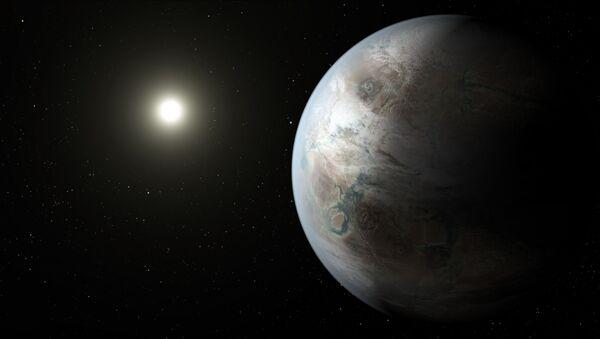 Rysunek egzoplanety Kepler-452b - Sputnik Polska