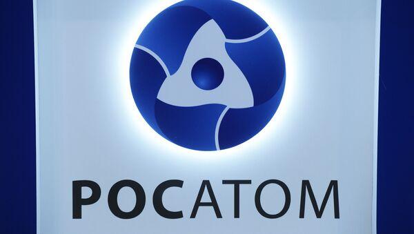Logo państwowej korporacji energii atomowej Rosatom - Sputnik Polska