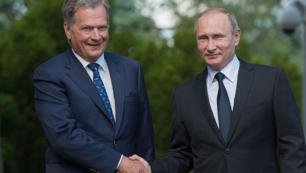Prezydent Rosji Władimir Putin i prezydent Finlandii Sauli Niinistö - Sputnik Polska
