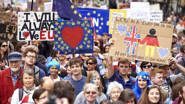 Londyńczycy protestują przeciwko Brexitowi - Sputnik Polska