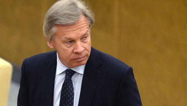 Przewodniczący Komisji ds. Zagranicznych Dumy Państwowej Rosji Aleksiej Puszkow - Sputnik Polska
