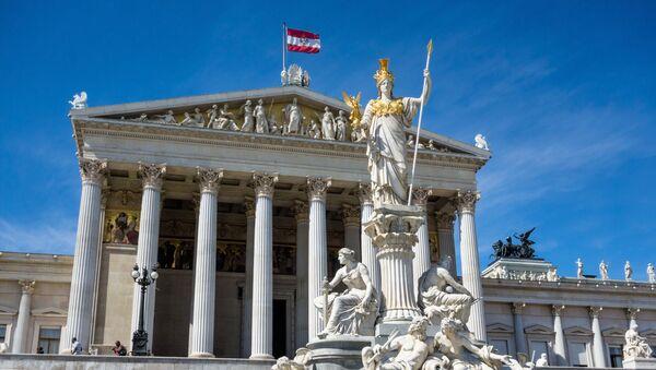 Siedziba austriackiego parlamentu w Wiedniu - Sputnik Polska