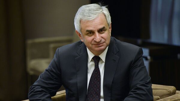 Prezydent Abchazji Raul Chadżimba - Sputnik Polska