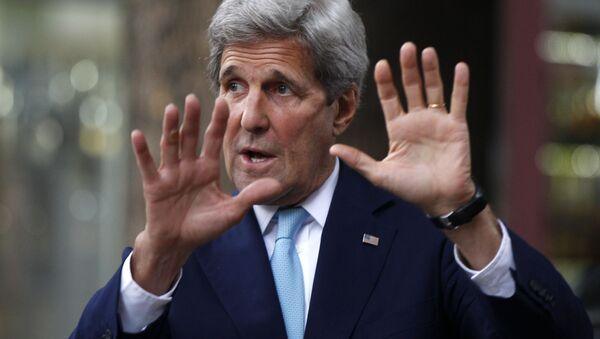 Zmerykański sekretarz stanu John Kerry - Sputnik Polska