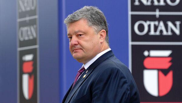 Prezydent Ukrainy Petro Poroszenko na szczycie NATO w Warszawie - Sputnik Polska