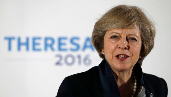 Faworytka w wyścigu o stanowisko premiera Wielkiej Brytanii Theresa May - Sputnik Polska
