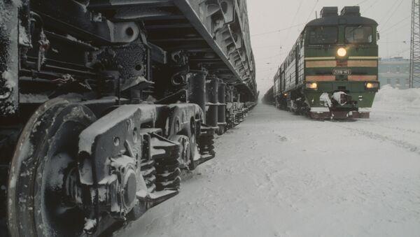 Pociągi na stacji w Norylsku - Sputnik Polska
