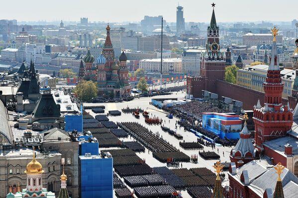Defilada Zwycięstwa na Placu Czerwonym 9 maja 2015 - Sputnik Polska