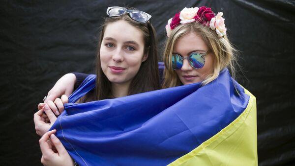 Miting na rzecz poparcia ratyfikacji umowy stowarzyszeniowej UE z Ukrainą w Amsterdamie - Sputnik Polska
